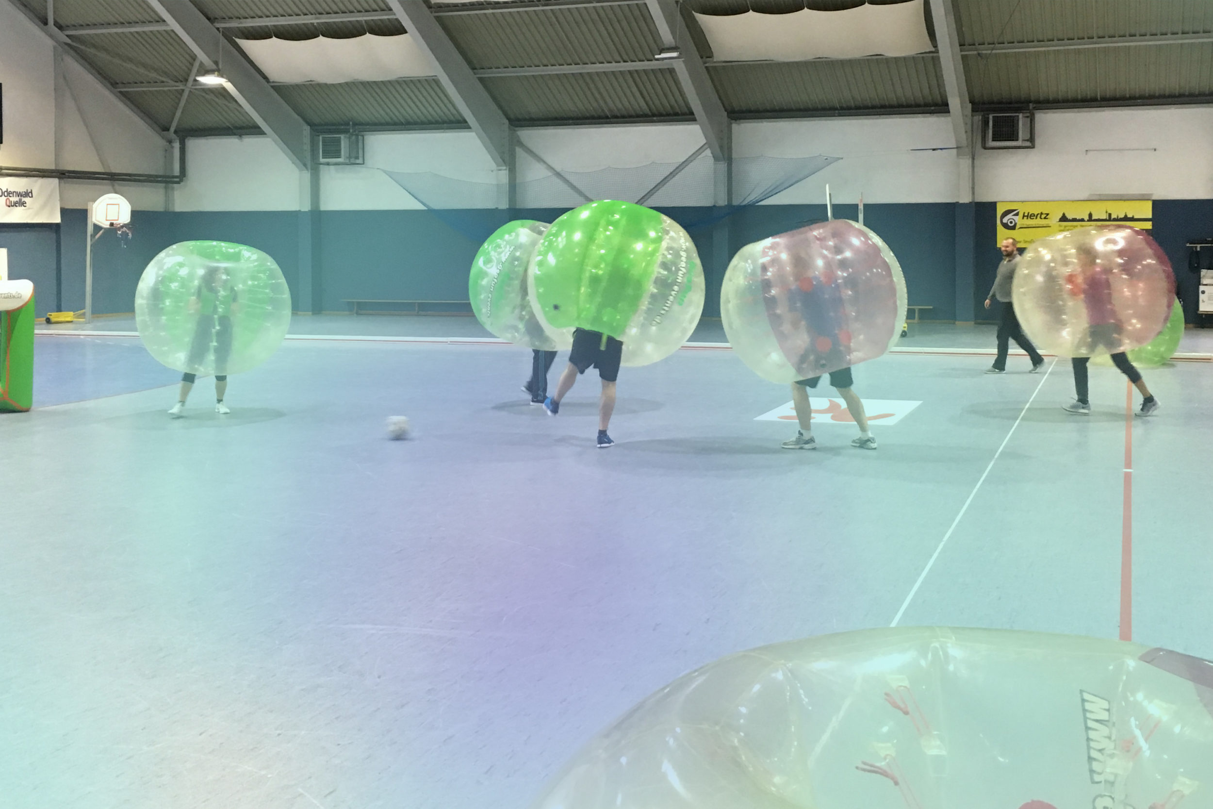 Teamevent Bubble Soccer 2017 5 Spieler in Bubbles