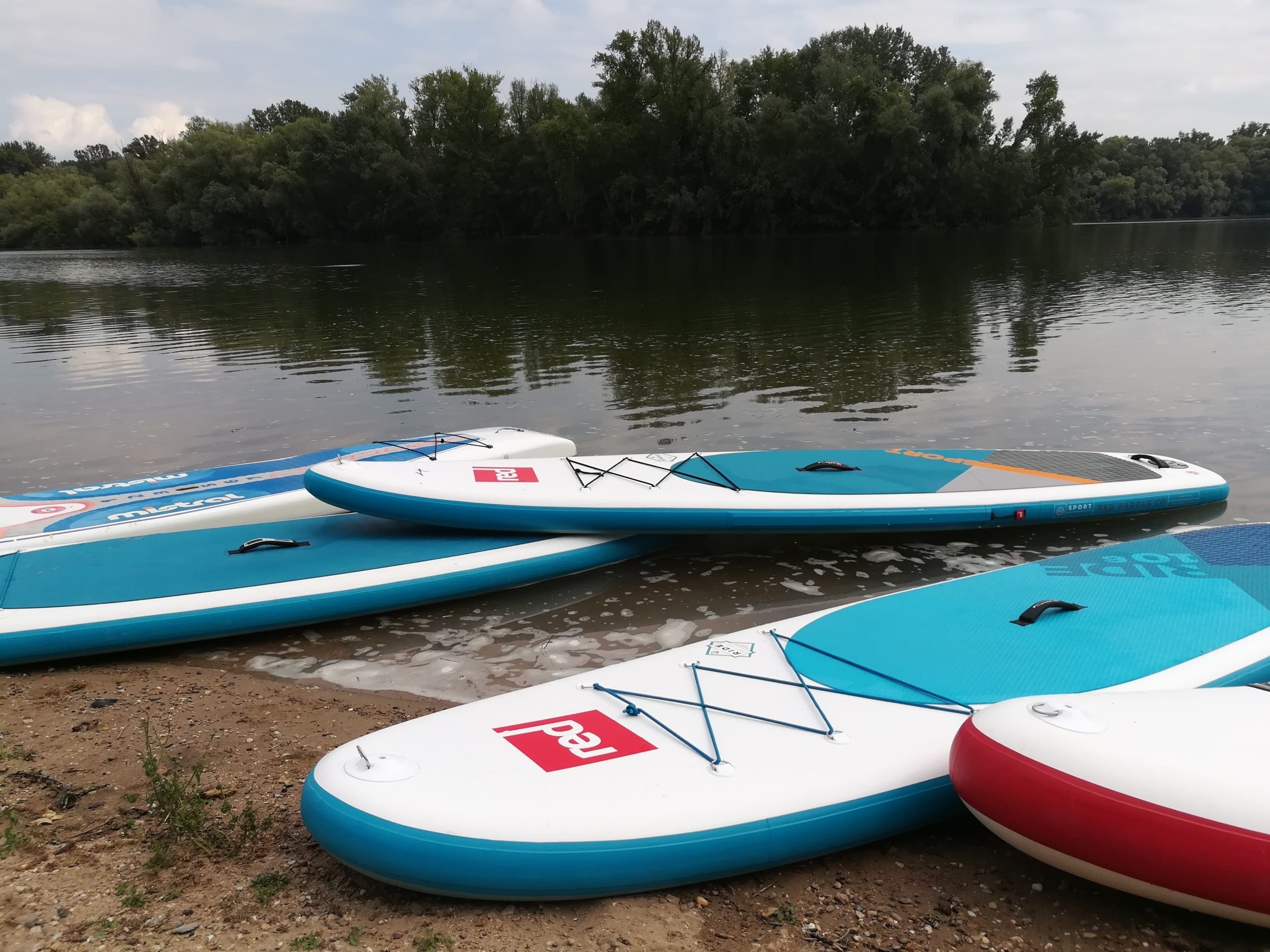 Stand up Paddleboards am Ufer