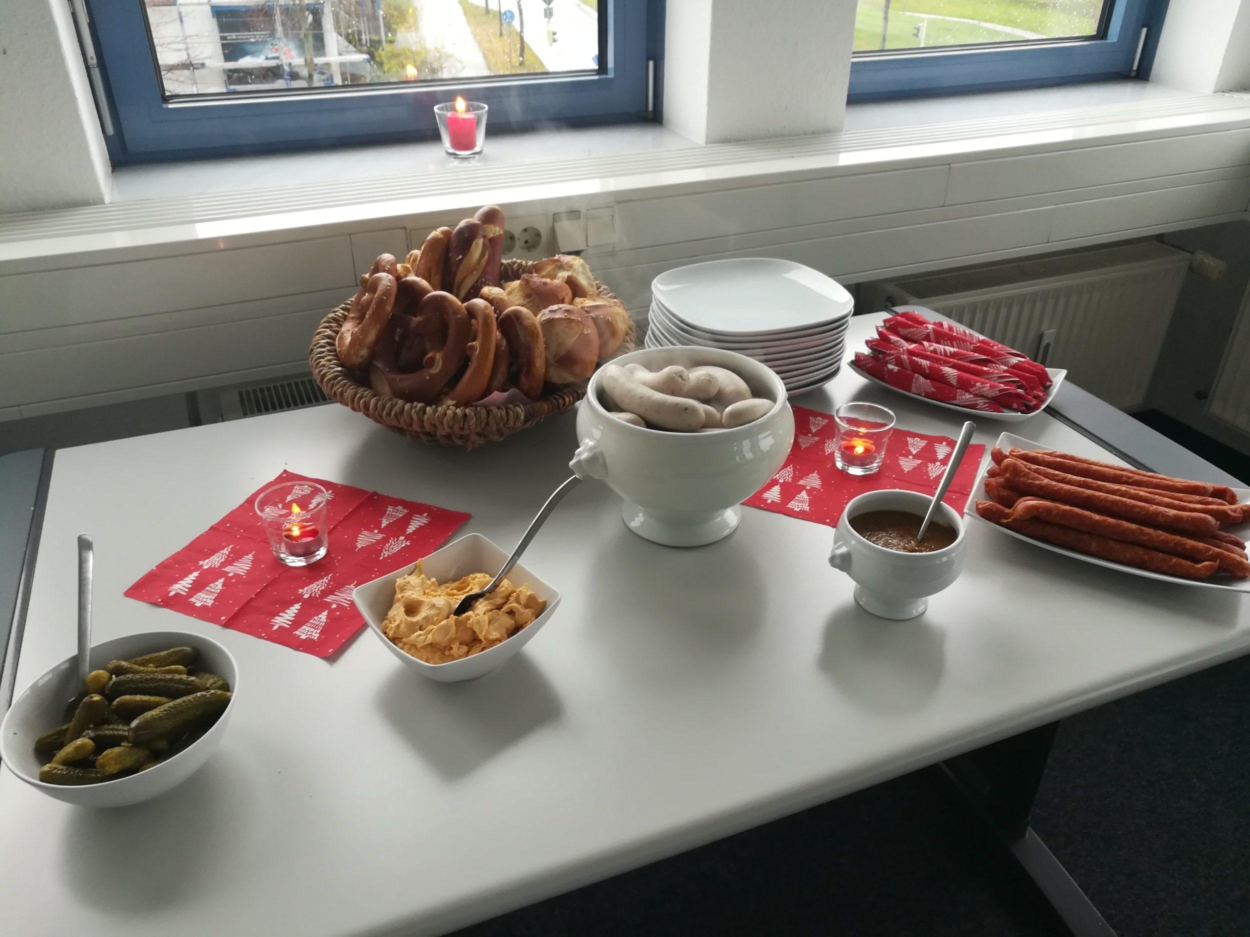 Weißwurstessen im Infocient Büro