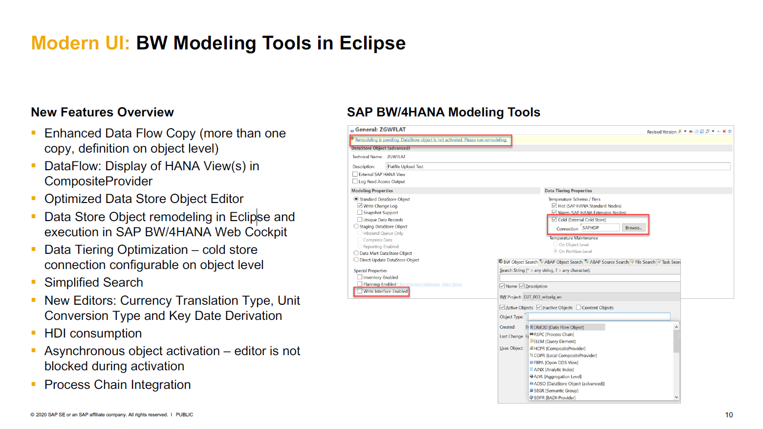 BW Modeling Tools in Eclipse
