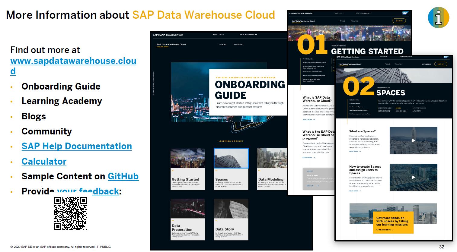 Mehr Informationen zu SAP Data Warehouse Cloud