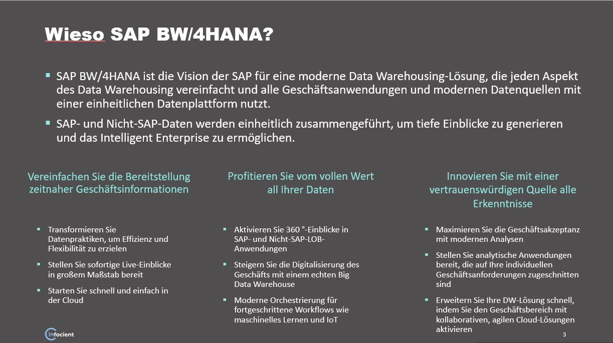Vorteile SAP BW/4HANA