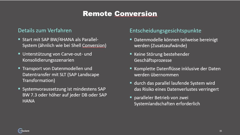 Remote Konvertierung