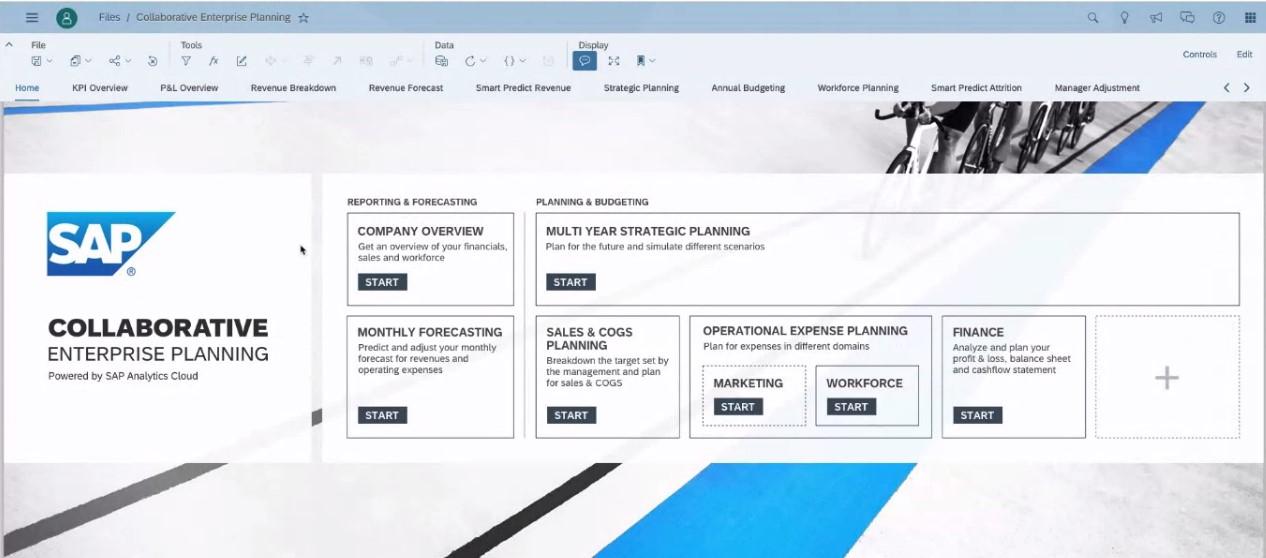 SAC Planning Live-Demo Landingpage