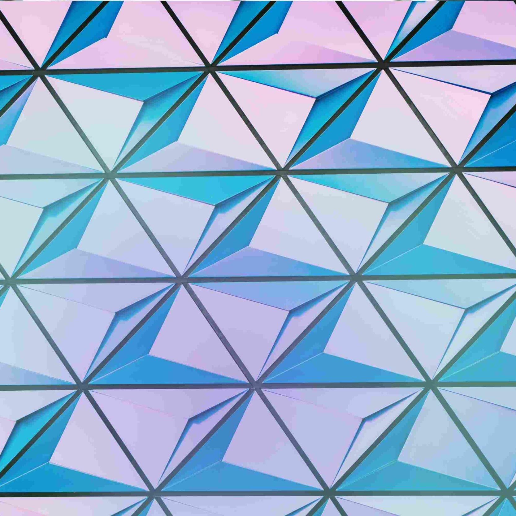 Architektur Kuben in lila und blau