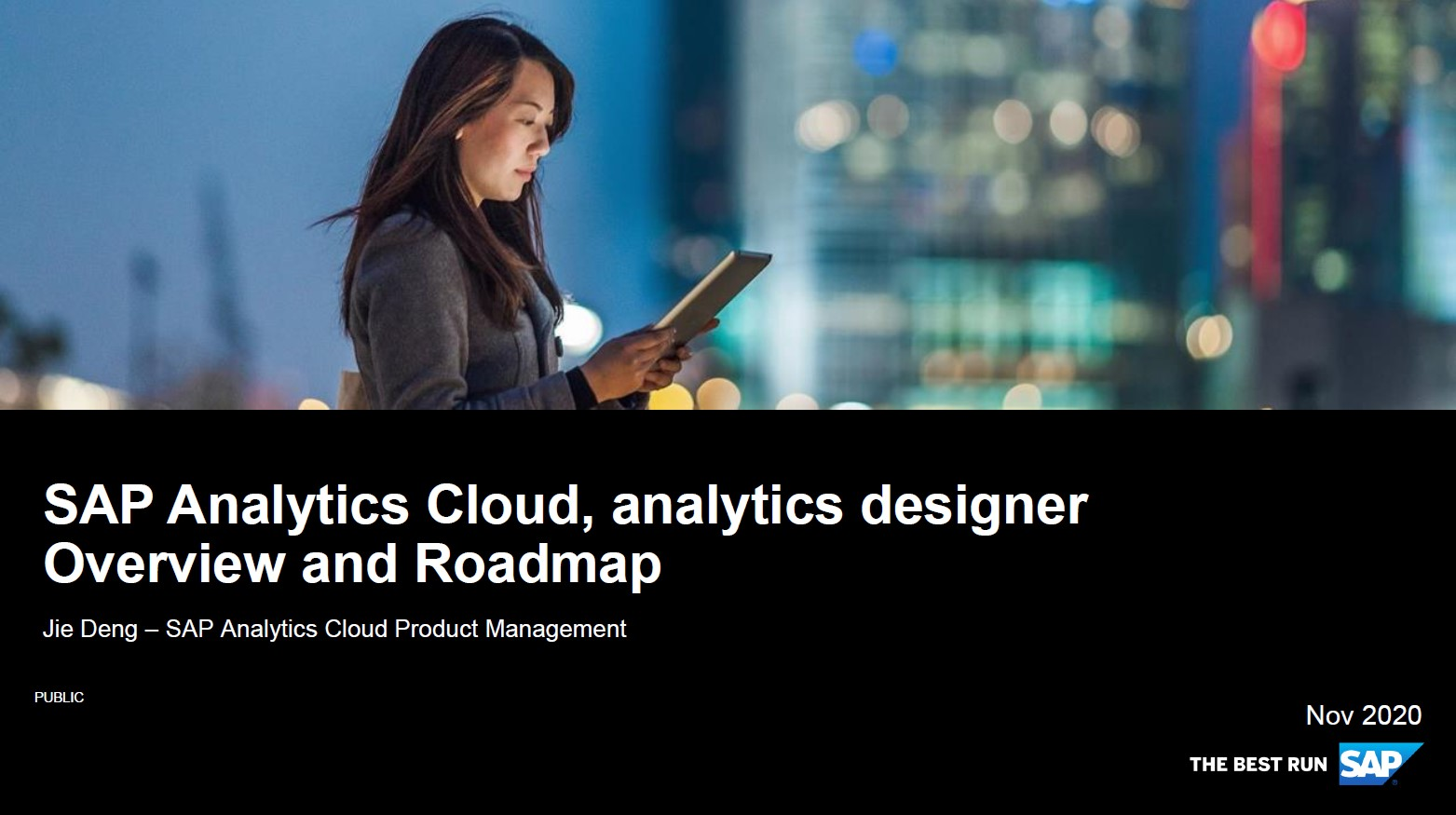 Coverfolie des Vortrags zu sap analytics designer