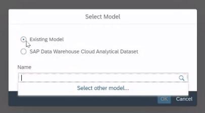 SAP Analytics Designer Auswahl des Modells