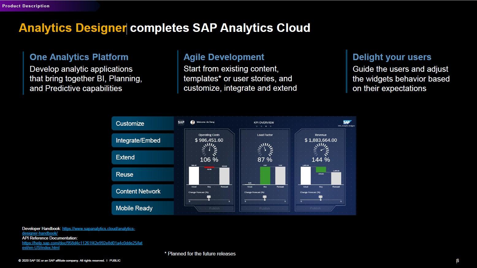 SAP Analytics Designer ergänzt SAC
