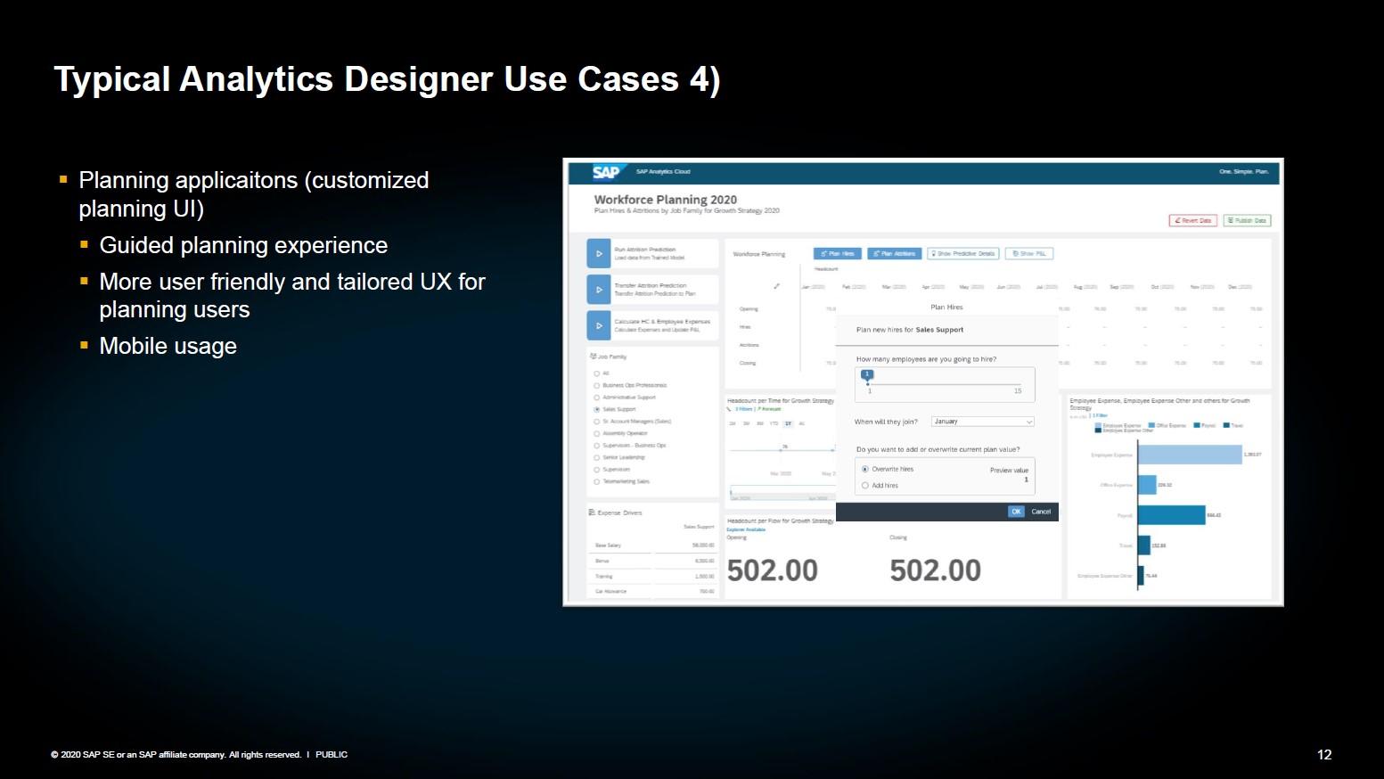 SAP Analytics Designer Anwendung 4 Planungskonfiguration