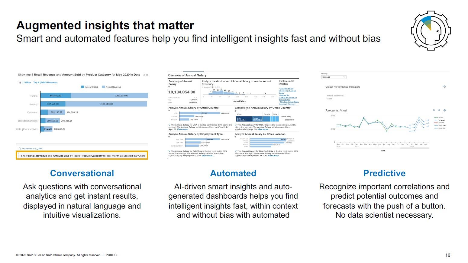 SAP Analytics Cloud Augmented Analytics