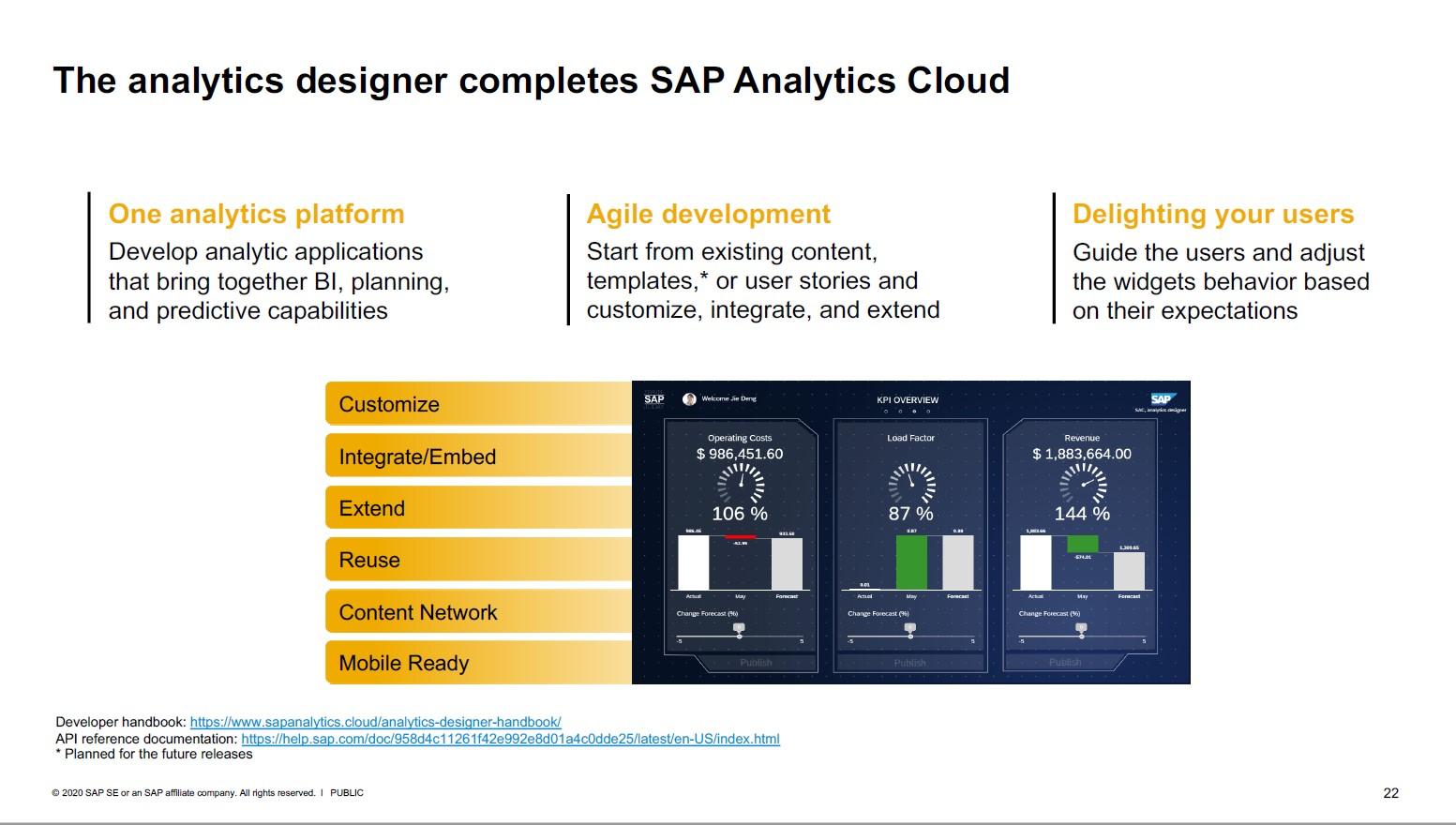 SAP Analytics Cloud Analytics Designer