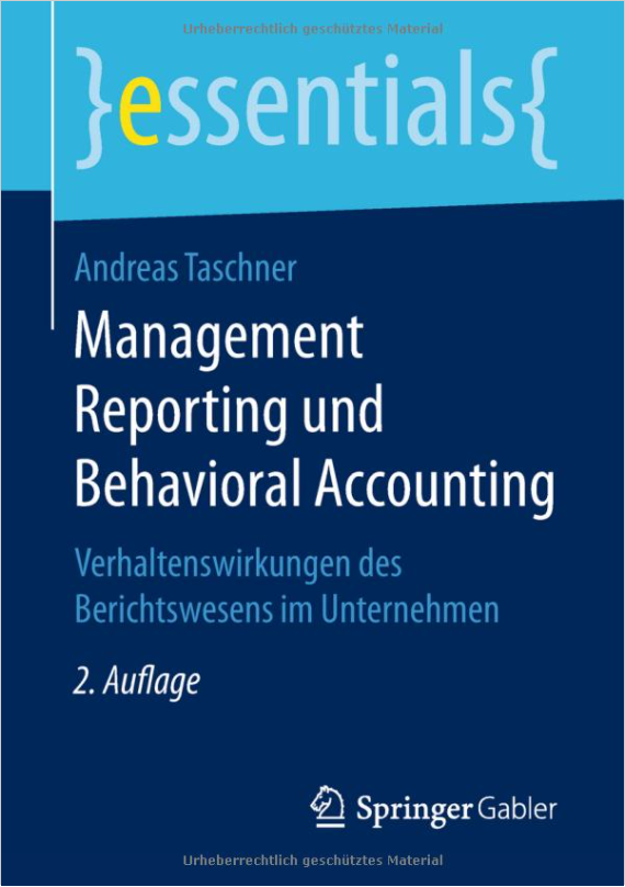 Cover Management Reporting Behvioral Accounting