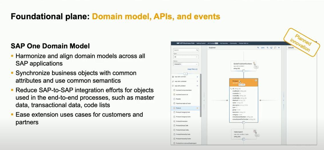SAP BTP One Domain Model